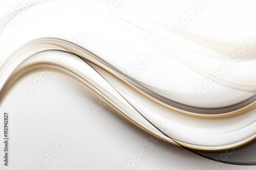 Poster Abstract wave Gold and brown modern waves background.