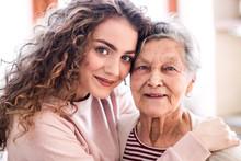 A Teenage Girl With Grandmothe...