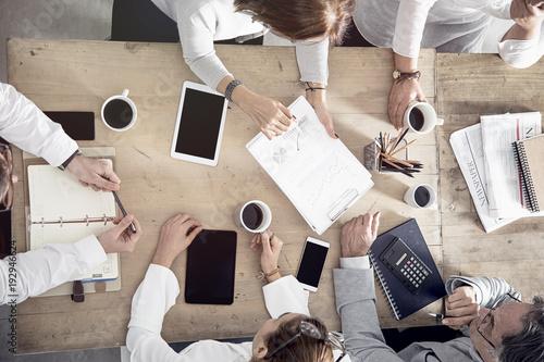 Obraz Working business meeting concept - fototapety do salonu