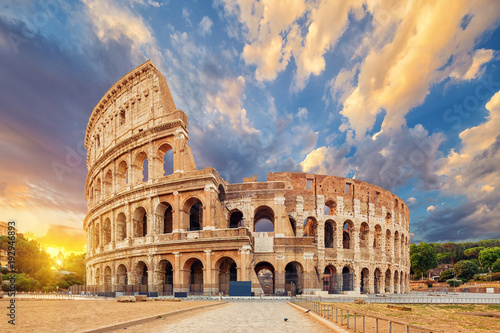 The Coliseum or Flavian Amphitheatre (Amphitheatrum Flavium or Colosseo), Rome, Italy Wallpaper Mural