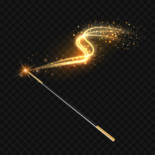 Magic Wand With Magical Gold S...