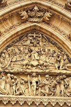 Detail Of The Portal Above The Door Of The Vysehrad Church