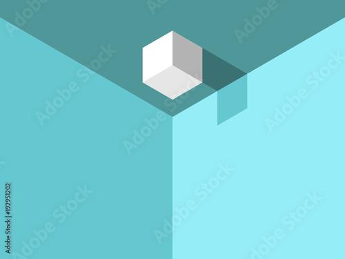 Valokuvatapetti Isometric cube on ceiling