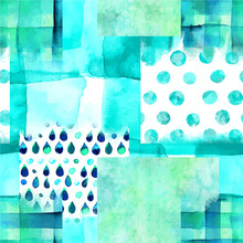 An Abstract Patchwork Vector A...