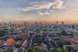 Bangkok city panorama viewed from Wat Saket