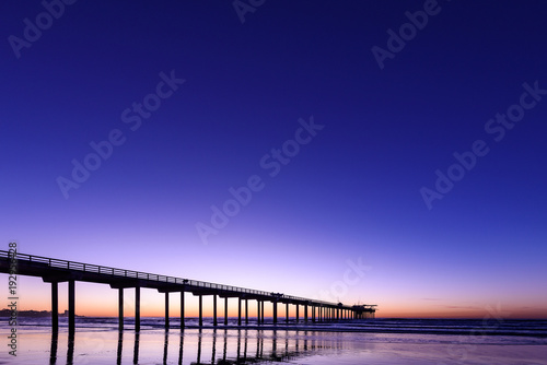 Poster Violet Perfect view of Scripps Pier La Jolla at Magic Hour