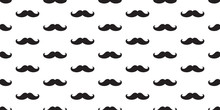 Mustache  Seamless Pattern Isolated Vector Wallpaper Background