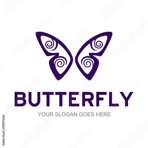 Fotobehang Vlinder Butterfly logo template