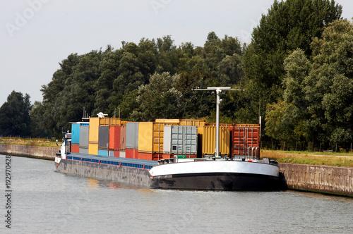 Stampa su Tela Container barge