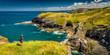 Die Küste Cornwalls bei Tintagel Castle