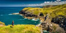 Die Küste Cornwalls Bei Tinta...