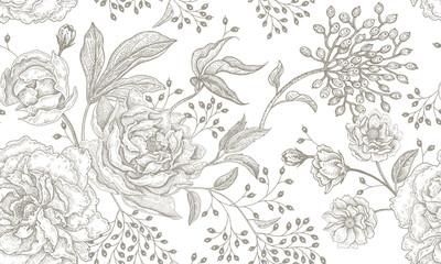 Floral vintage seamless pat...
