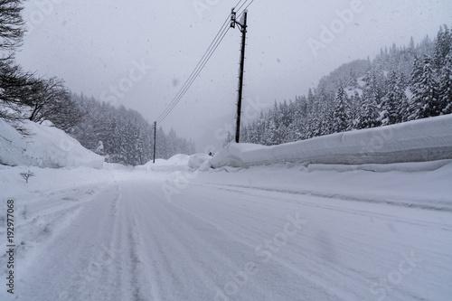 山形県最上町の大雪 Heavy snow in Yamagata Prefecture Poster