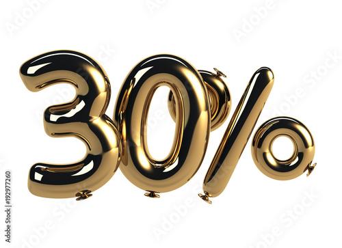 Tela  30% discount made of Golden Balloons
