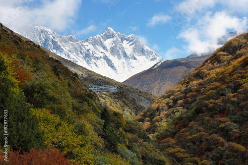Plakat Widoki Nuptse i Lhotse