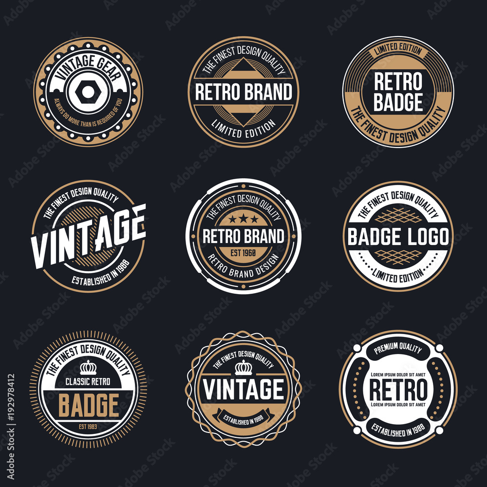 Fototapety, obrazy: Circle Vintage and Retro Badge Design