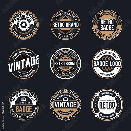 Pinturas sobre lienzo  Circle Vintage and Retro Badge Design