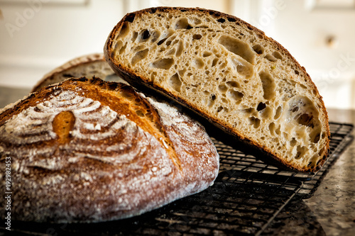 Tuinposter Brood Delicious homemade sourdough baked bread