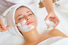 Woman In Mask On Face In Spa B...