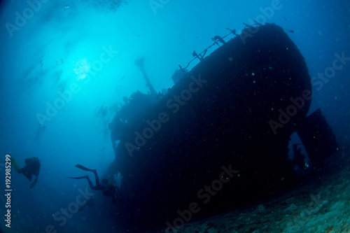 Foto op Canvas Schipbreuk Ship Wreck in maldives indian ocean