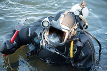 Commercial  Diver With Scuba G...