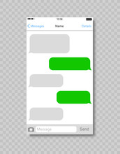 Chatting Sms App Template Bubbles. Stock Vector