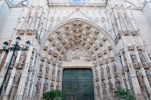 Foto op Canvas Milan Seville Cathedral