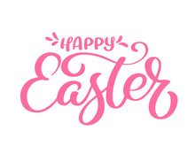Hand Drawn Happy Easter Callig...