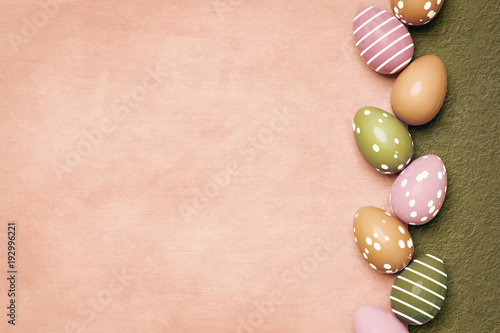 Fotografía  a beautiful colored eggs easter background