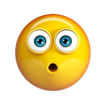LoL Emoji, Laughing Face Emoticon With Sticking Tongue And Tears Of Joy. 3d Rendering Isolated On White Background