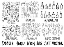 Food Doodle Illustration Wallp...