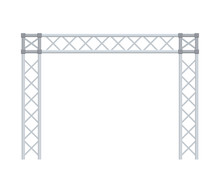 Truss Construction. Isolated O...