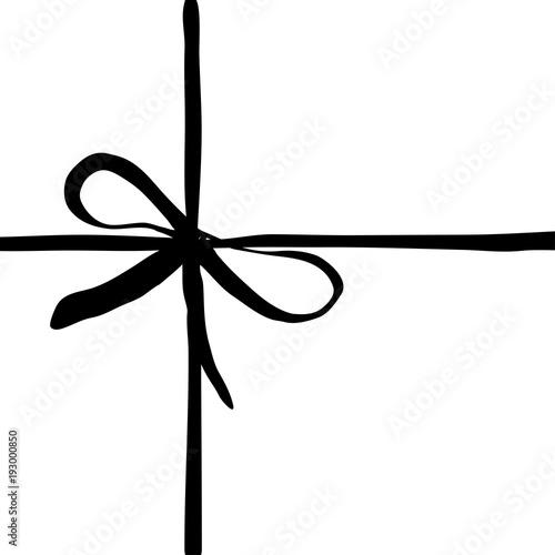 Fotografia Vector hand drawn bow icon