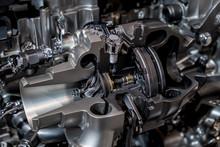 Engine Turbocharger Cutaway