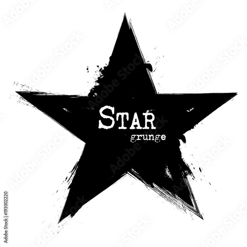 Obraz Star shape . Grunge style . Vector - fototapety do salonu
