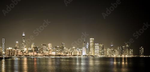 Fototapety, obrazy: Big City skyline along water
