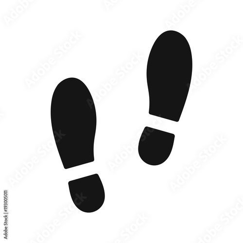 Cuadros en Lienzo  Human footprints. Stock vector