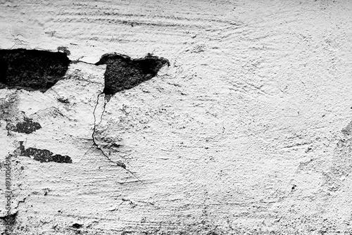 Foto-Tapete - Wall fragment with scratches and cracks (von chernikovatv)