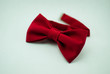 canvas print picture - A stylish and well-designed red bow-tie on a white background; isolated