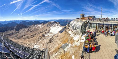 Foto auf AluDibond Europäische Regionen Zugspitze, Panorama