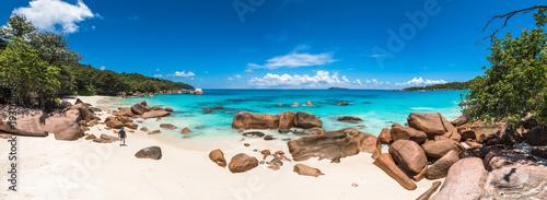 Tuinposter Tropical strand Tropical beach Anse Lazio, Praslin island, Seychelles