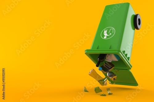 Photo Plastic trashcan