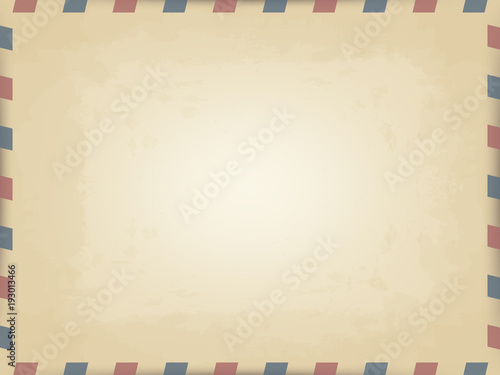 Photo vector realistic pattern of old vintage card with slanted lines on the edges of