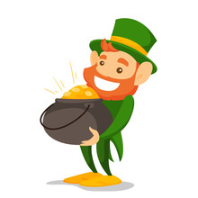 Leprechaun With Red Beard Wear...