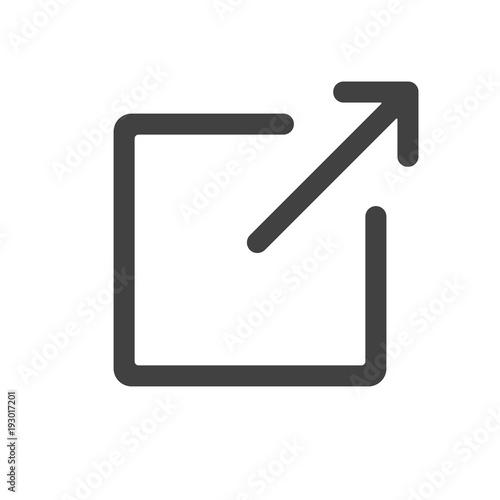 Fototapeta External Link icon - simple flat design isolated on white background, vector obraz