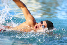 Man Swimmer Swimming Crawl In ...