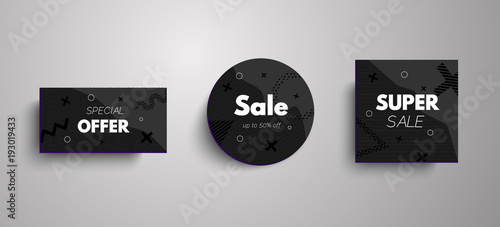 Sale And Special Offer Banner Sales Tags Abstract Frames With