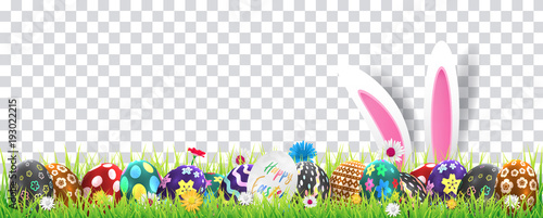 Stampa su Tela Happy easter image vector