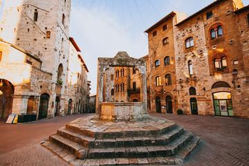 Ancient village San Gimignano.