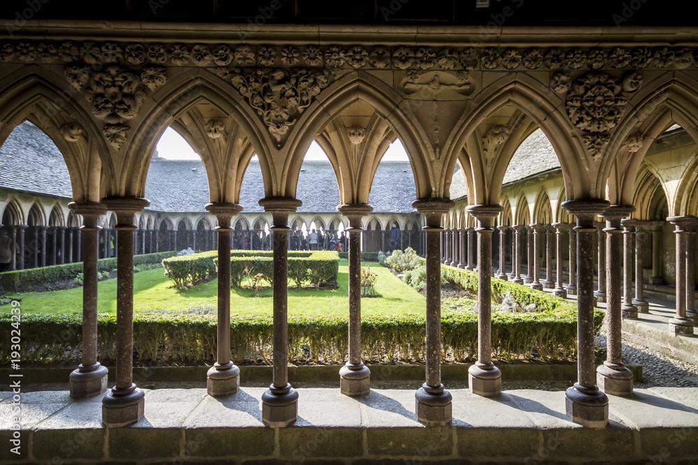 Fototapety, obrazy: Cloister on mont saint michel